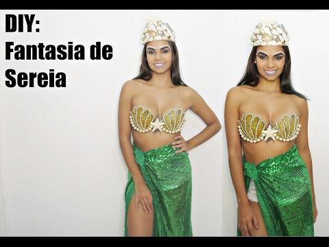 DIY: FANTASIA DE SEREIA #CARNAVALCAMILLAQUINTELA - YouTube