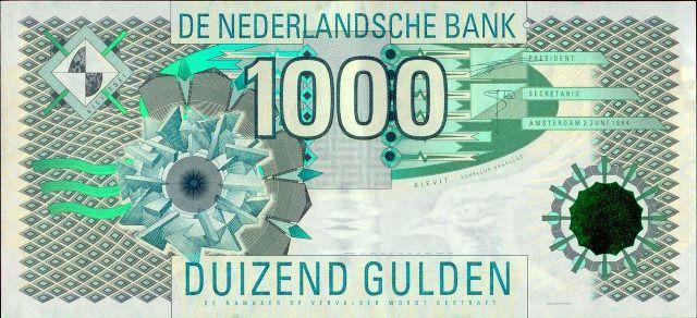 1.000 gulden biljet - Jaap Drupsteen - Kieviet