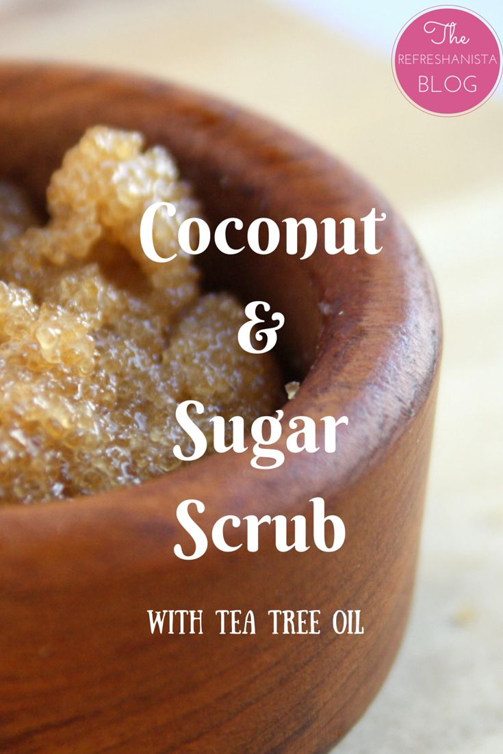 DIY Coconut & Sugar Scrub- a face scrub that's super easy to make with just a few all-natural ingredients! This scrub leaves you with soft, smooth skin. | The Refreshanista