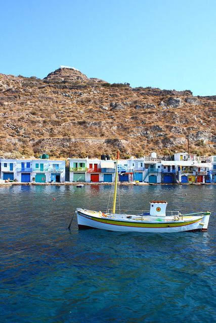 This is my Greece | Klima, a traditional fishing village with very few inhabitants and multicolored two-storeyed houses