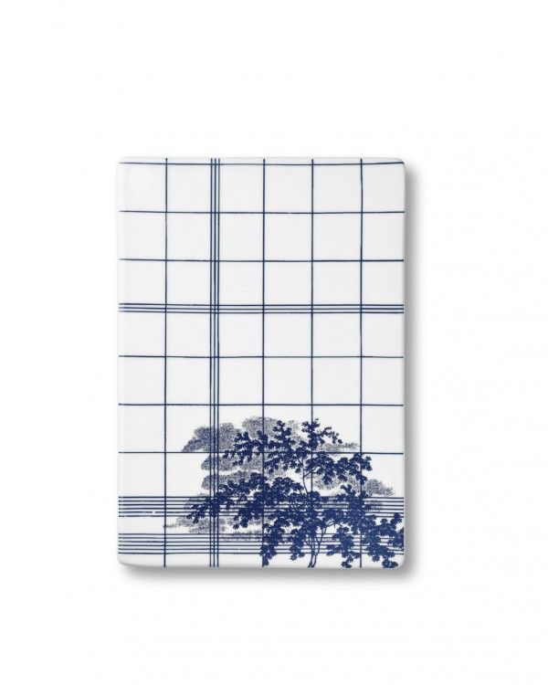 Ruth M small tile, landscape blue RM502B - Ruth M small tile, landscape blue - collections