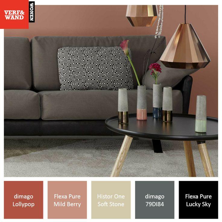 Kleurinspiratie van Verf & Wand. Durf te kiezen! http://www.verfenwand.nl/assortiment/verf #copper #koper #verfkleuren #inspiratie #wooninspiratie