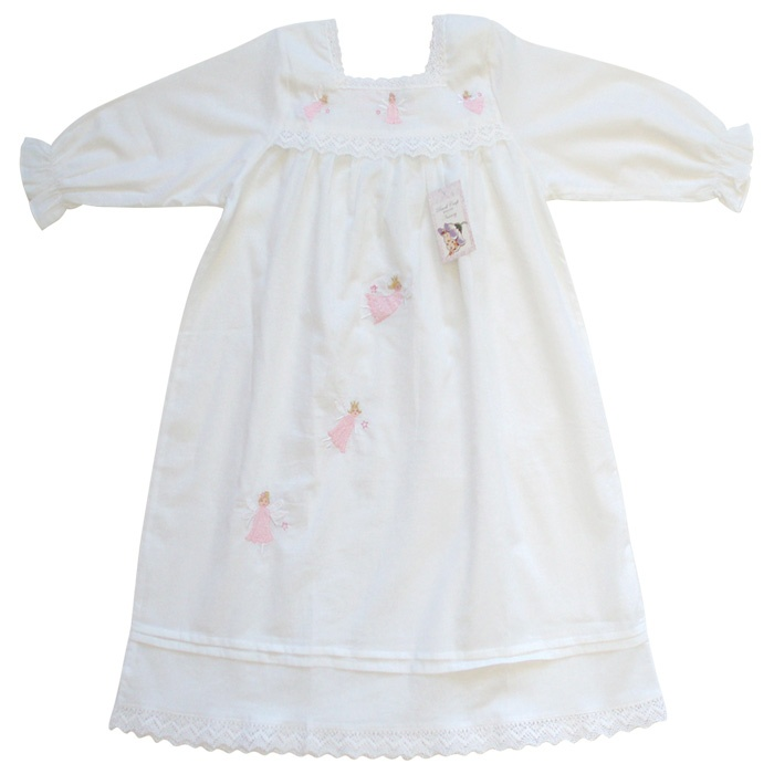 The delicate floating fairies give this pure cotton nightdress the perfect finishing touch - oh so very Secret Garden!