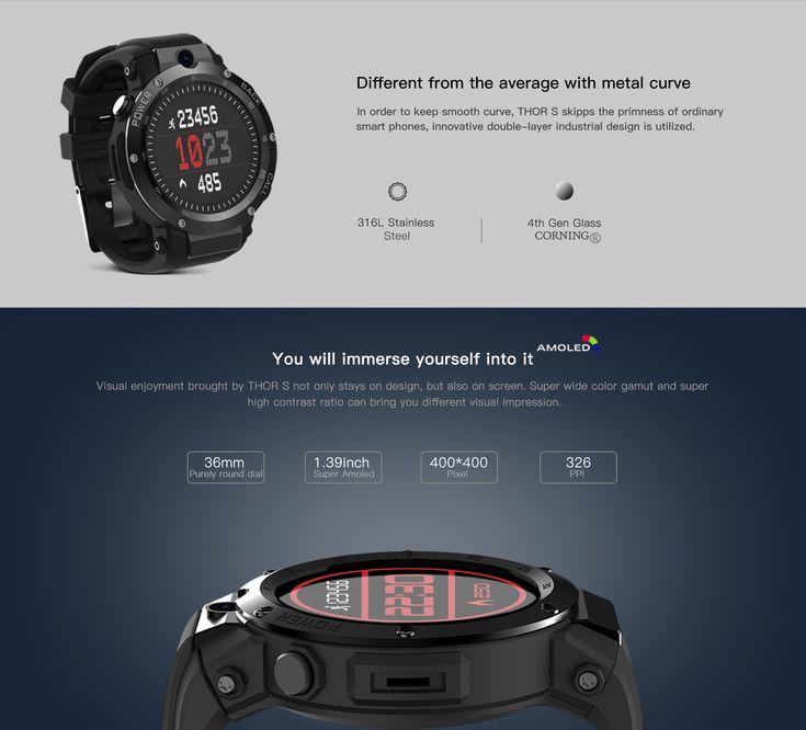 Zeblaze THOR S 1.39inch Super AMOLED 1GB+16GB 3G GPS WIFI Camera Heart Rate Monitor Smart Watch