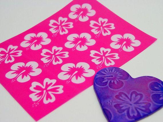 Large Hawaiian Hibiscus Texture Silkscreen for by Beadcomber, $6.99