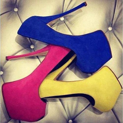 Супер розовые, золотые, и синие туфли женские.