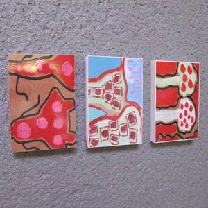 Colle Chic créations : Mini tableaux, artiste Kiki