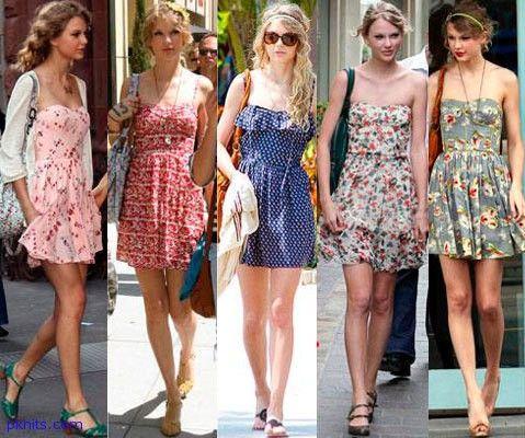 Taylor swift fashion summer dress