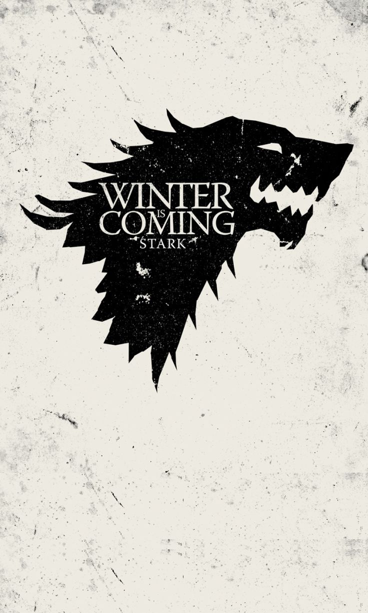 Game of Thrones #poster #stark #gameofthrones #minimalism