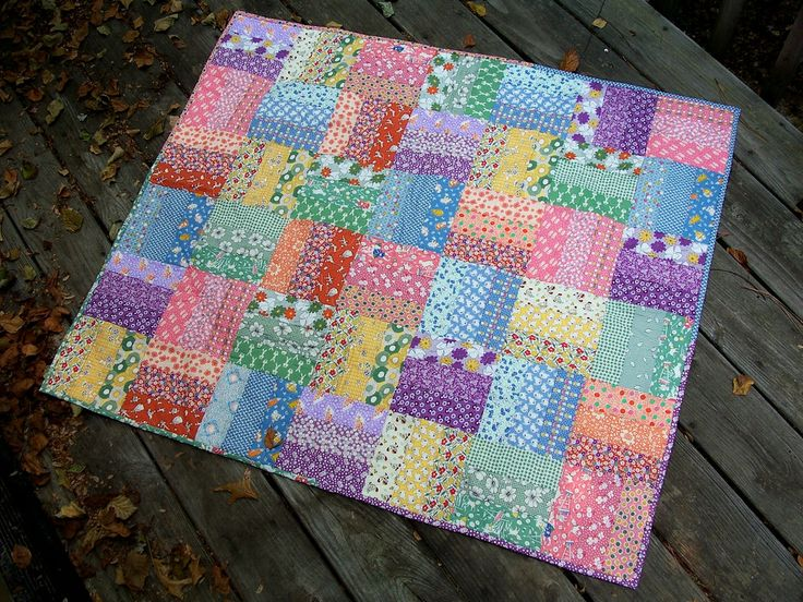 S rail fence baby quilt flickr photo sharing