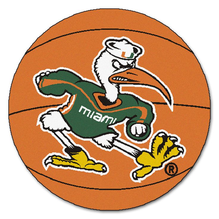 Miami Hurricanes Basketball Area Rug