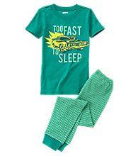 Too Fast To Sleep 2-Piece Pajama Set