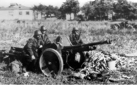Odessa 1941 Schneider anti tank gun - Romania WW2, pin by Paolo Marzioli