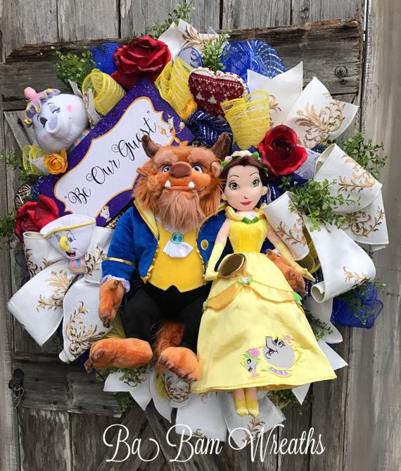 Beauty And The Beast Princess Wreath Disney Wreath by BaBamWreaths