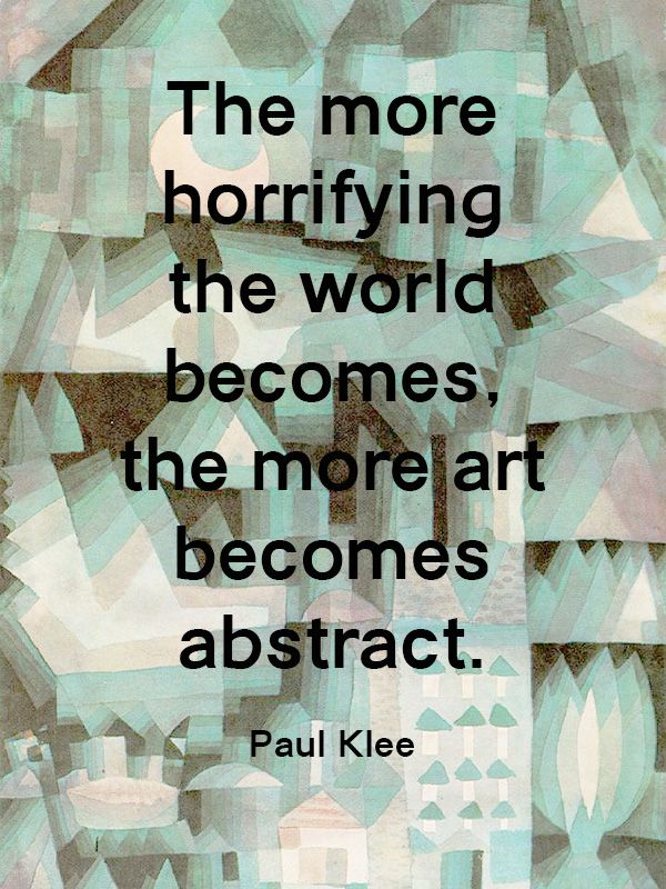 No 13 Paul Klee Yes, So True.