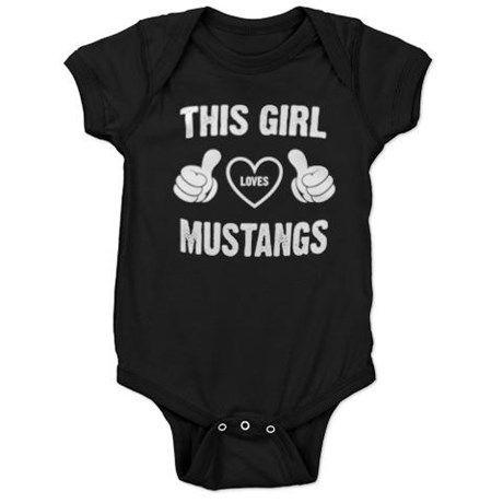 THIS GIRL LOVES MUSTANGS Baby Bodysuit #mustang #mustangs #thisgirk #babywear