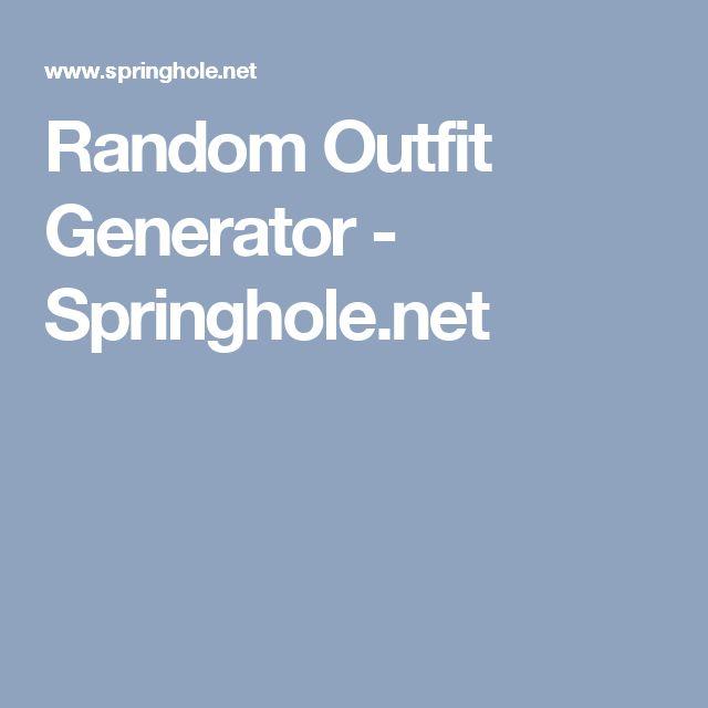 Random Outfit Generator - Springhole.net