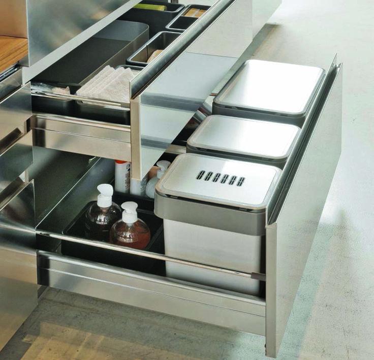 Vibo Under Bench Waste Bins & Storage