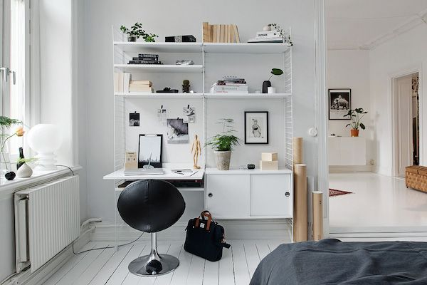 my scandinavian home: Duvet day in this monochrome bedroom?
