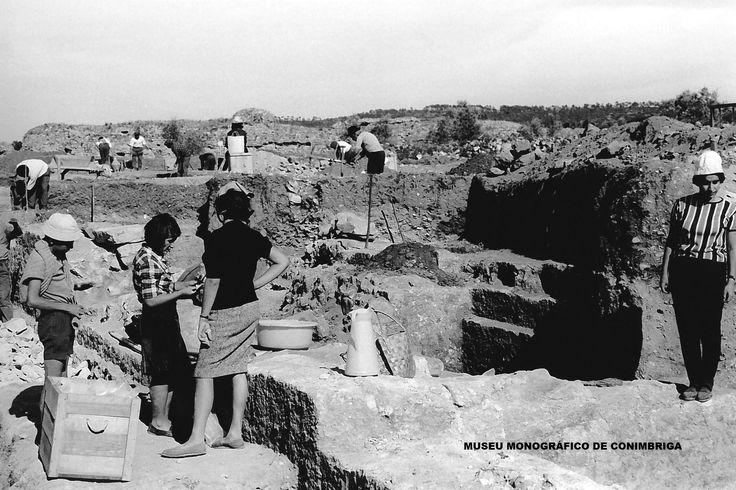 Aspecto da campanha de escavações, 1964
