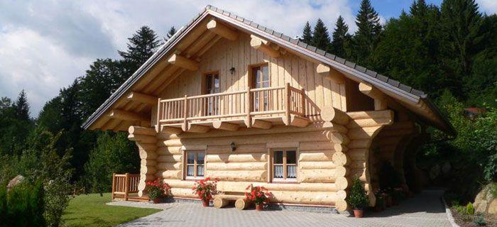 Bayerwald Blockhütte Holzhausbau Blockhäuser