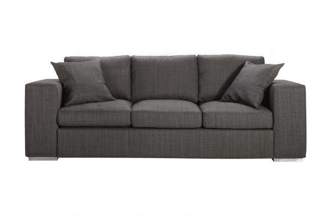 canap design 3 4 places gris antibes prix promo miliboo 899 00 ttc prix conseill 999 soit. Black Bedroom Furniture Sets. Home Design Ideas