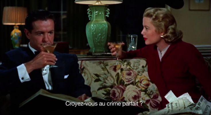 """* Éphéméride * du 2 Février : 1955, sortie française de """"Le Crime Était Presque Parfait"""" d'Alfred Hitchcock - https://addict-culture.com/ephemeride-2-fevrier-1955-sortie-francaise-de-crime-etait-presque-parfait-de-alfred-hitchcock/ 1955, Alfred Hitchcock, Grace Kelly, Le Crime était presque parfait"""