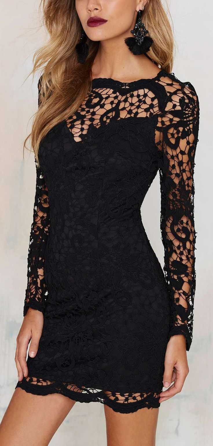 Obsessed with Black Lace Dress! Perfect for a night out with the girls