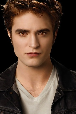 Robert Pattinson as Edward Cullen in the Twilight series.