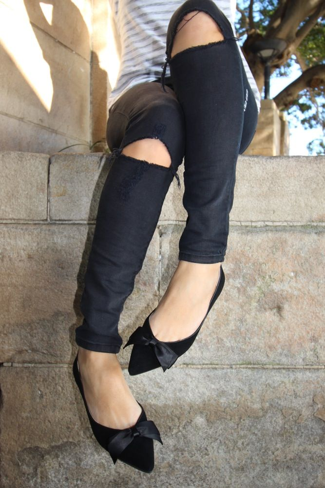 Image of Lu-lu pointy ballet - black suede