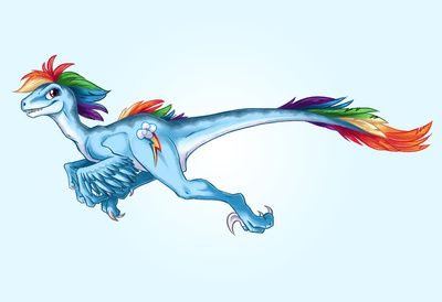 Raptor Rainbow Dash - My Little Raptor