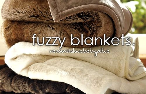 I love to curl up with a warm, fuzzy blanket and a good book...