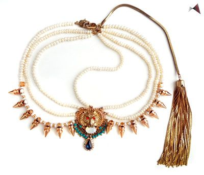 Make a fierce fashion statement with this head piece by Outhouse Jewellery.