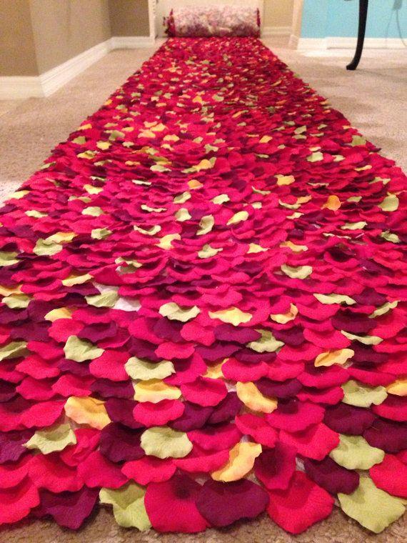 123 Best Rose Petal Aisle Runners For Weddings Images On Pinterest