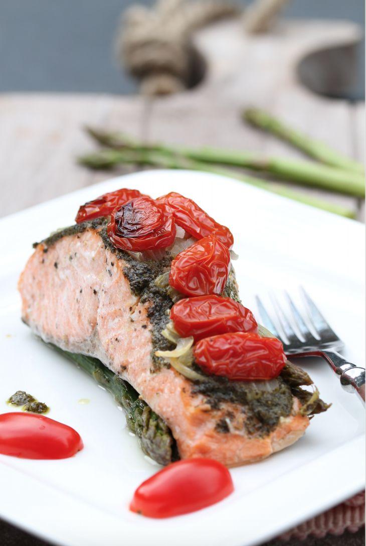 Salmon with pesto curst - Zalm met pesto