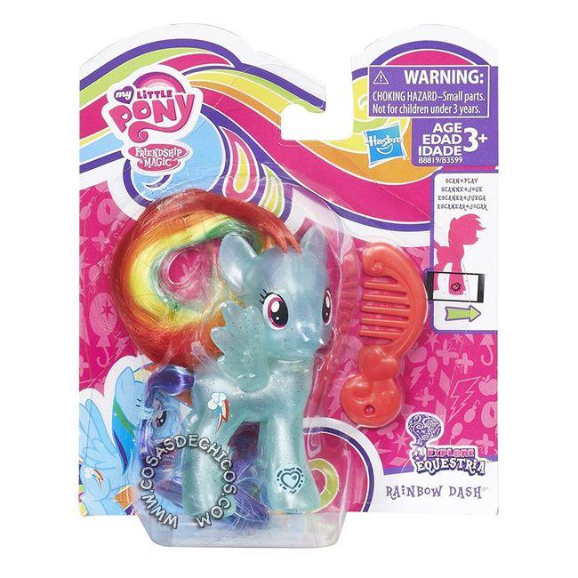 #Figura #MyLittlePony #Explore #Equestria #RainbowDash -   #Original #Hasbro.    Imperdible colección, con cuerpo perlado y glitter!  Cada figura incluye un peine.  Medida: 8 cm.  Presentación: Blister cerrado.    Recomendado a partir de los 3 años.    #CosasDeChicos #My #Little #Pony #MiPequeñoPony