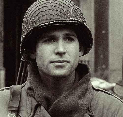 "�Private David Kenyon Webster, the sexy intellectual soldier in Band of Brothers. | 11 Awesome ""Once Upon A Time"" Characters Before They Came To Storybrooke"