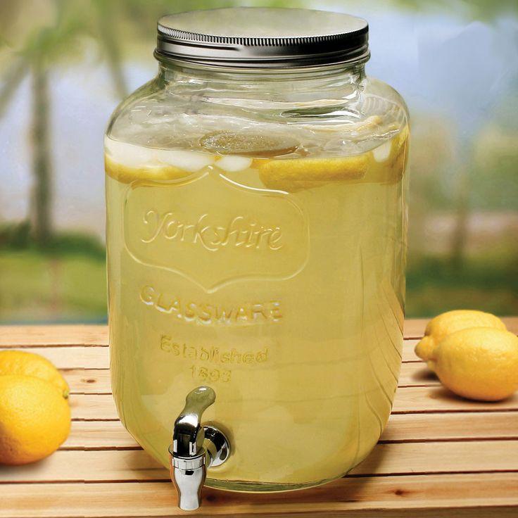 Georgia Peach Mason Jar Beverage Dispenser - More than 1/2 less than Pottery Barn