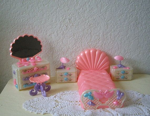 LADY LOVELY LOCKS complete Bedroom Set, Mattel, 1987 Very Hard to Find by aquarius247 on Etsy