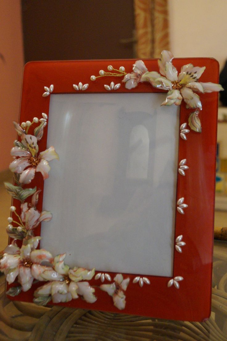 glass photoframe with sospeso flowers...ruchi