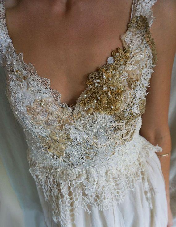 Nymphe des bois robe... mariage fée fantaisiste par jadadreaming