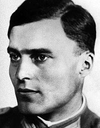 Claus von Stauffenberg portrait (1907-1944) Executed for participating in the Valkiri Operation to assassinate Hitler