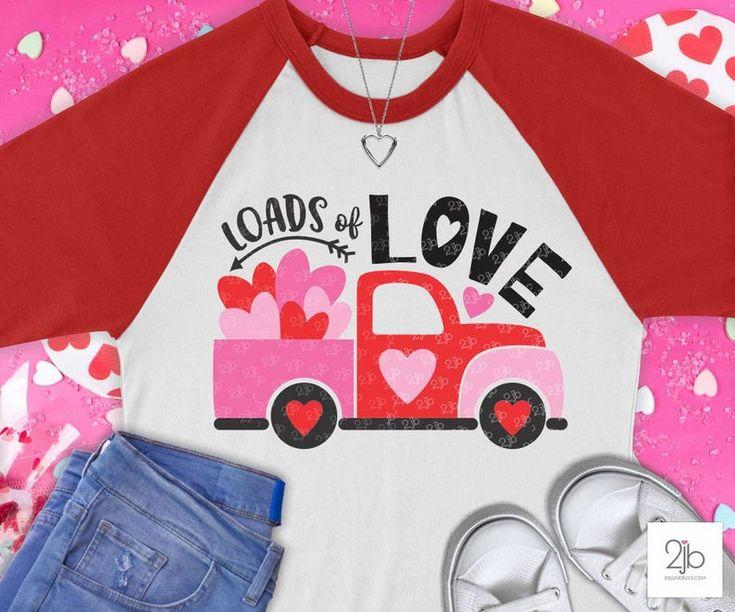 Download Loads of Love Valentine Truck SVG, valentine svg, love svg ...