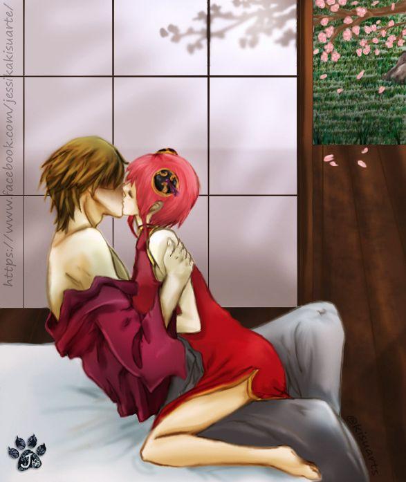 Okita Sougo e Kagura Yato love, anime Gintama