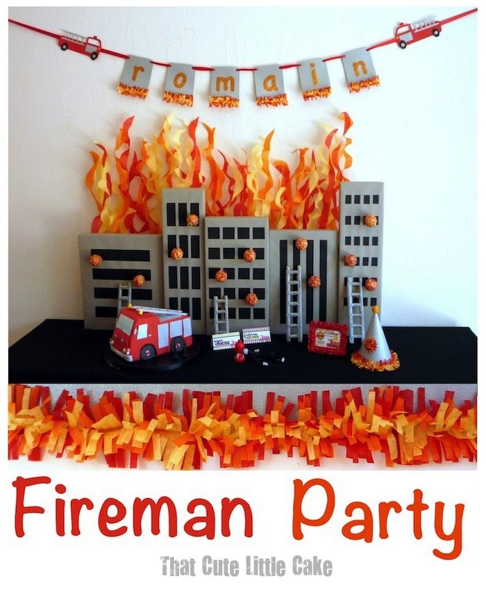 Fireman Birthday Party | That Cute Little Cake