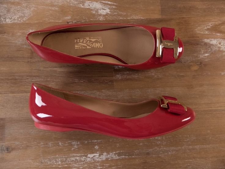 The Ferragamo size is 8 C, which equal to 8 US and 38.5 EU (size conversion made according to the size chart on Ferragamo website). Leather lining. Leather sole. Made in Italy.   eBay!