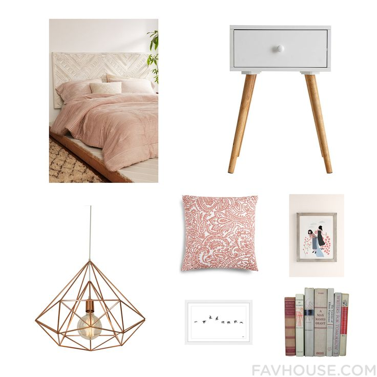 Decorating Products Including Amira Bed White Furniture Ceiling Light And Damask Bedding From December 2016 #home #decor