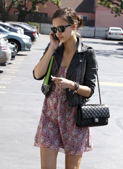 Jessica Alba and Classic Chanel Flap Bag