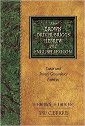 Brown-Driver-Briggs Hebrew Lexicon