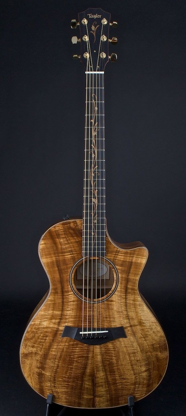 Taylor K22CE acoustic guitar. Without a doubt one of the most beautiful guitars that I have ever laid eyes on.
